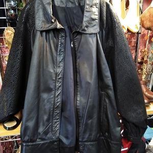 COMINT Black Leather Jacket